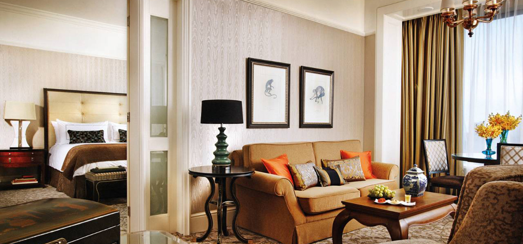 A suite at the Four Seasons Hotel Singapore