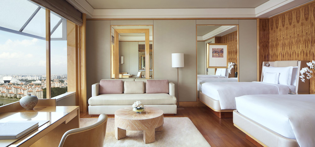 The Deluxe Kallang Twin Room at The Ritz-Carlton, Millenia Singapore