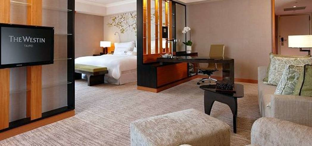 A suite at the Westin Taipei
