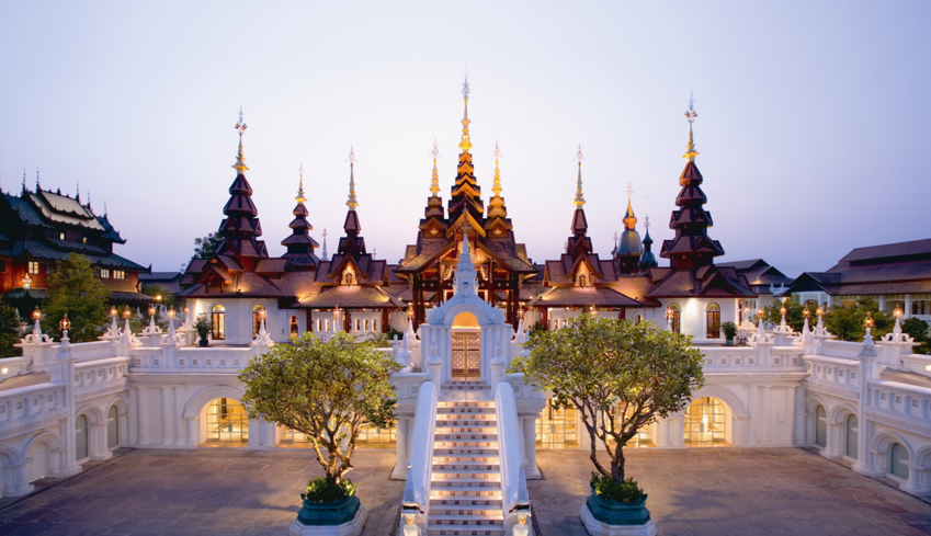 The main lobby of the Dhara Dhevi Chiang Mai