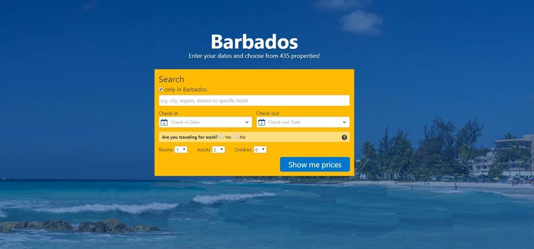 Find hotels in Barbados using Booking.com