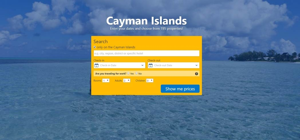Book at hotel at the  Cayman Islands through Booking.com