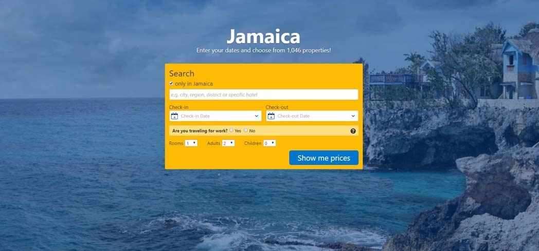 Book your hotel stay in Jamaica through Booking.com