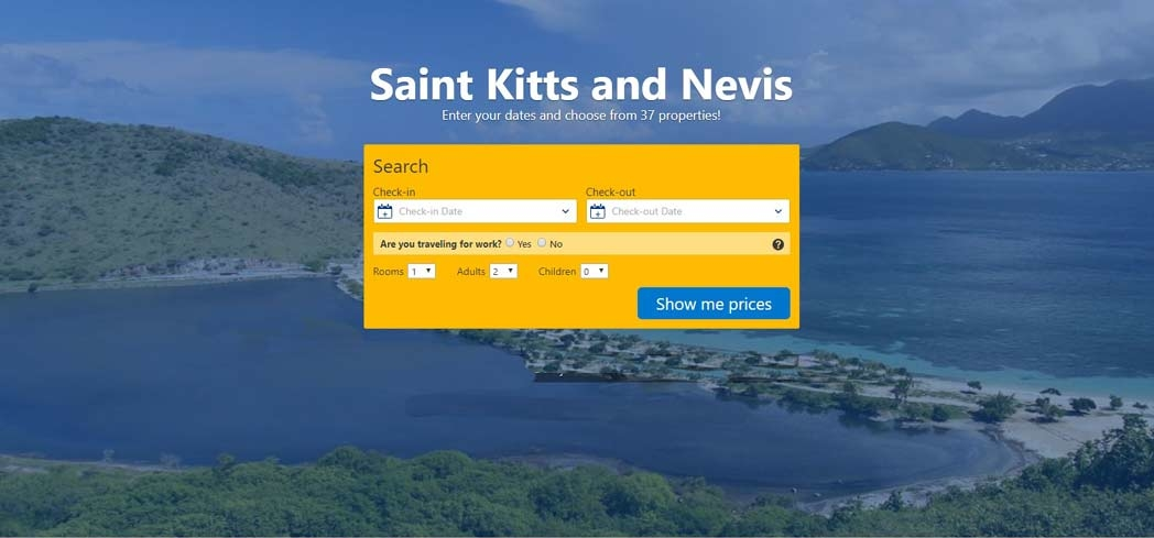 Book your hotel stay at Nevis through Booking.com