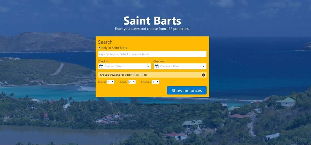 Book you hotel stay in St. Barth's through Booking.com