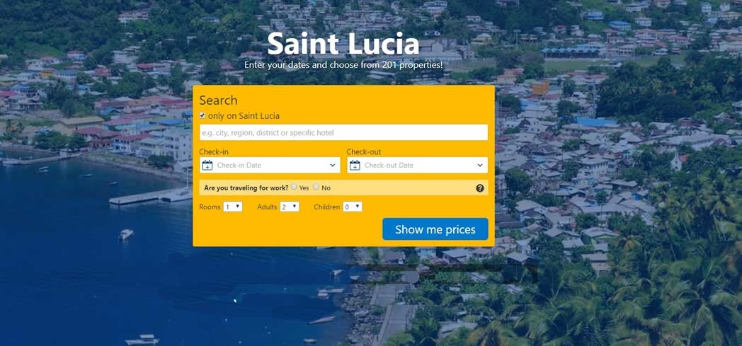 Book your stay in St. Lucia through Booking.com