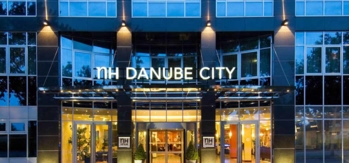 The exterior of the NH Danube City