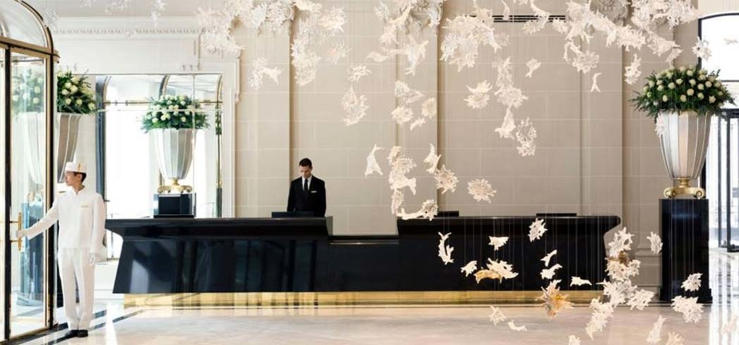 Get whisked as soon as you enter the lobby at the Peninsula Paris