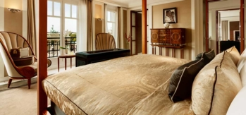 The Brandenburg Suite with a view of Brandenburg Gate at Hotel Adlon Kempinski