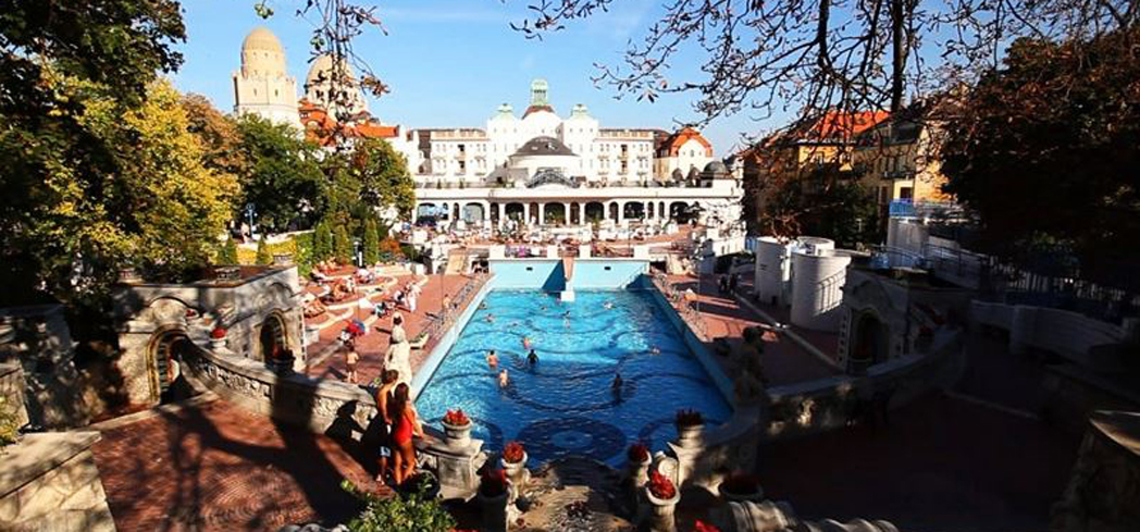 The Gellert Bath Outdoor Pools at Danubius Hotel Gellert