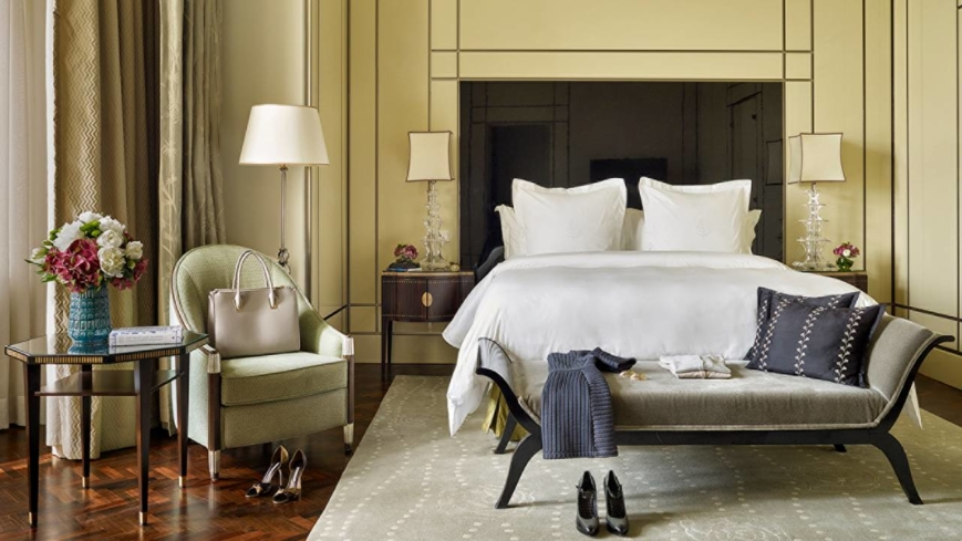 The Royal Suite Bedroom at Four Seasons Hotel Gresham Palace Budapest