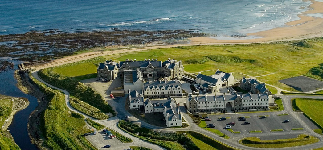 Bird's eye view of the Trump International Golf Links & Hotel, Doonbeg