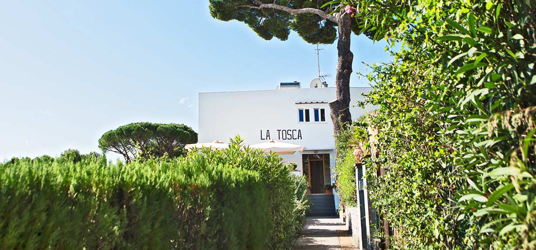 This lovely little sun-kissed hotel sits down a quiet lane in the center of historic Capri