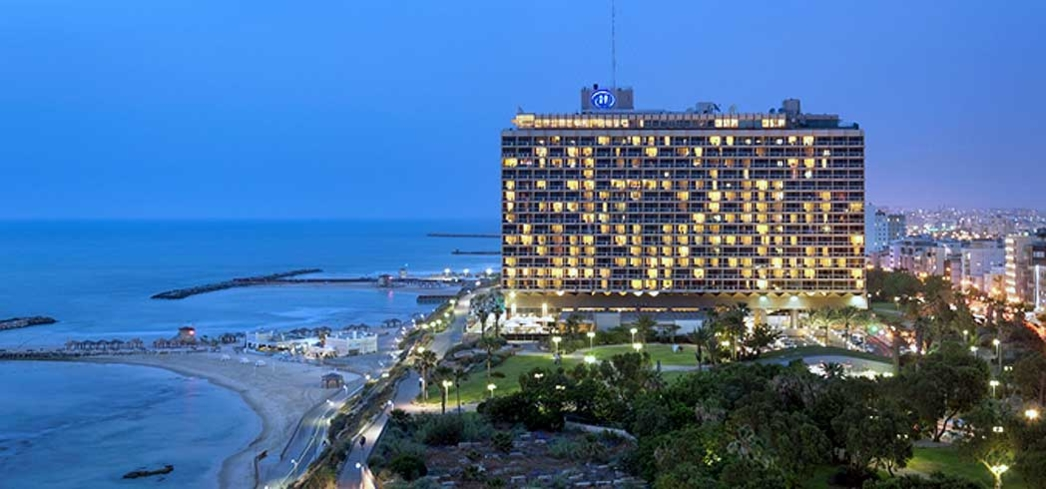 The Hilton Tel Aviv is a beachside hotel in Israel