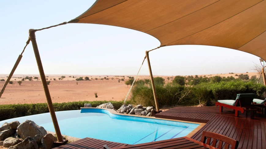 The Bedouin Suite pool at Al Maha Desert Resort & Spa