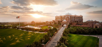 The exterior of Emirates Palace Abu Dhabi