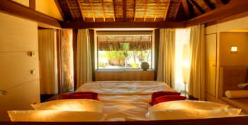 One of the rooms at The Brando in Tetiaroa.