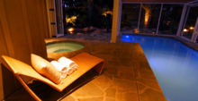 The Lap Pool and Jacuzzi at the Spa at Night