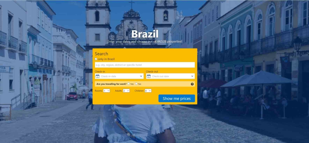 Find a hotel in Brazil and reserve it