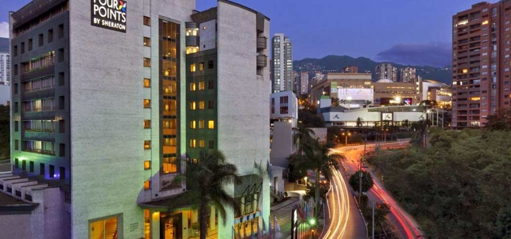 The exterior of the Four Points Sheraton Medellin