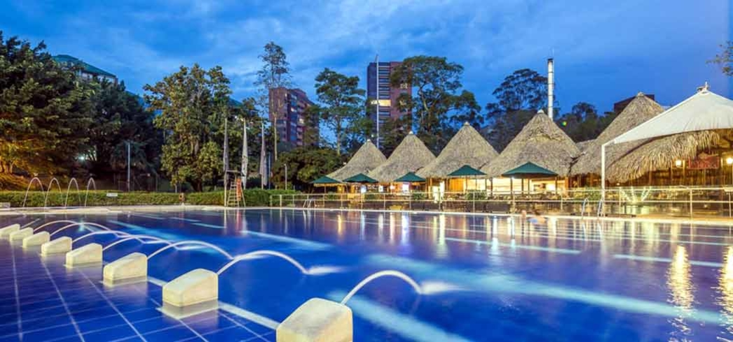 The outdoor pool at the Intercontinental Medellin