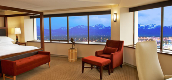 The hotel has 370 guest rooms and suites done in traditional style