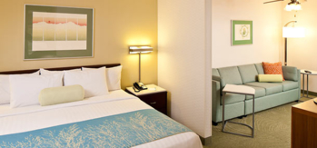 The studio suite guest rooms are designed for self-catering stays
