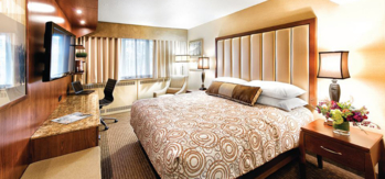 All the guest rooms feature private balconies with city, mountain and/or water views