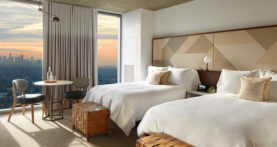 Guest room at 1 Hotel West Hollywood