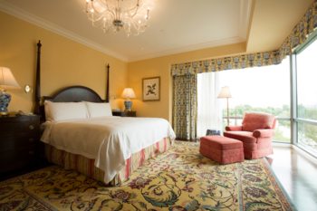 A deluxe room at the Four Seasons Hotel Westlake Village