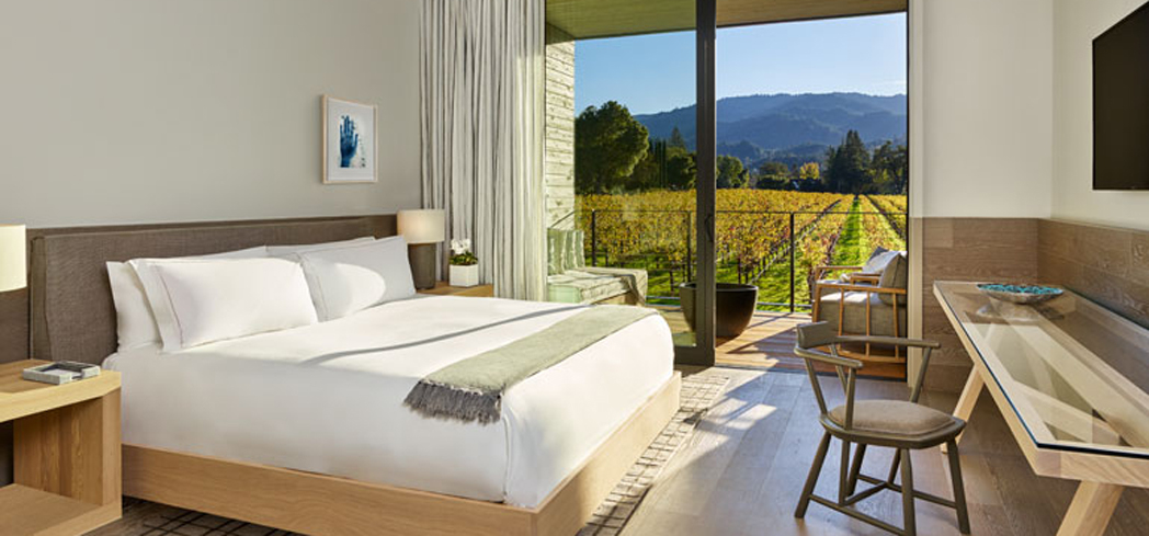 The Standard King Guest Room at Las Alcobas, A Luxury Collection Hotel, Napa Valley