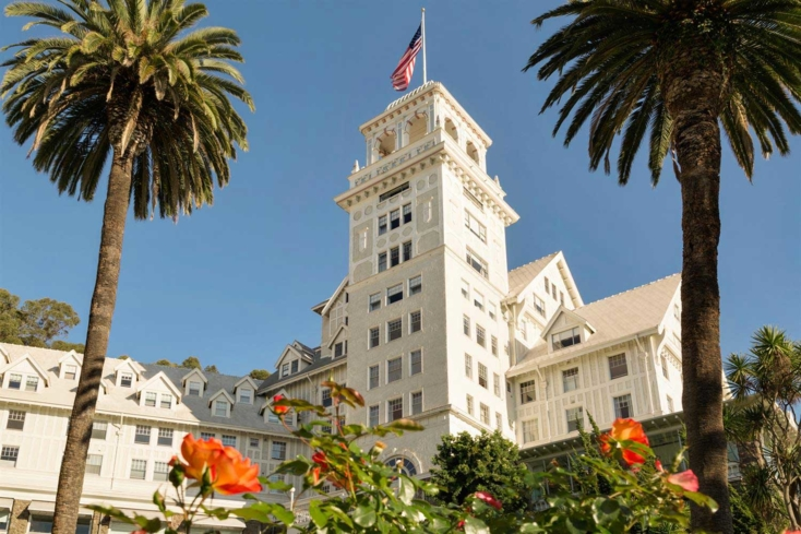 The exterior of Claremont Club & Spa, A Fairmont Hotel in Berkeley, California