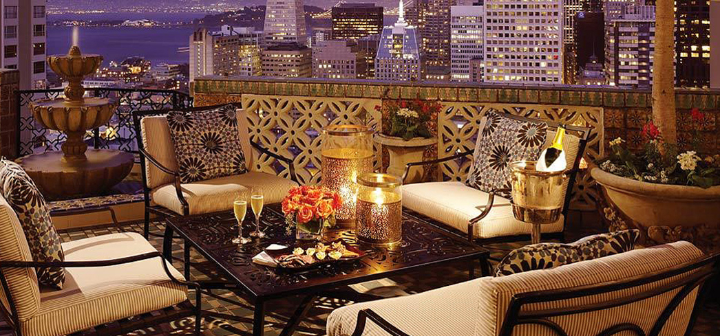 Stunning city views await at the Fairmont San Francisco