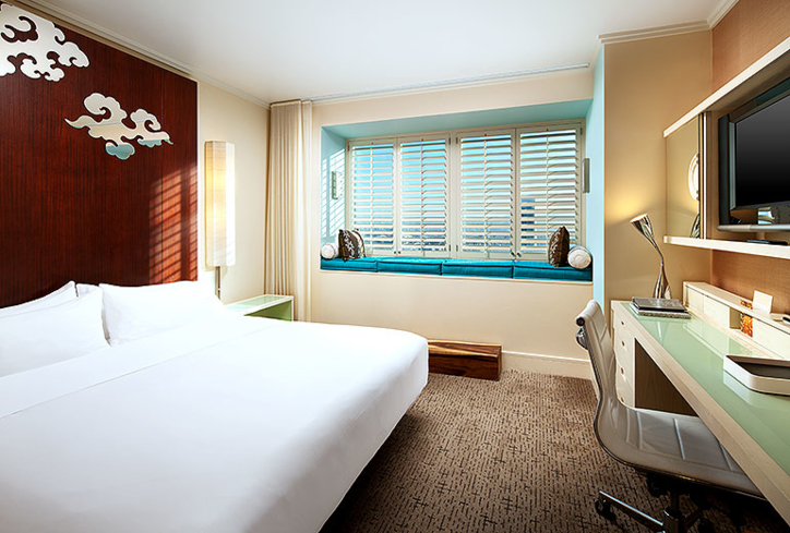 A guest room at W San Francisco