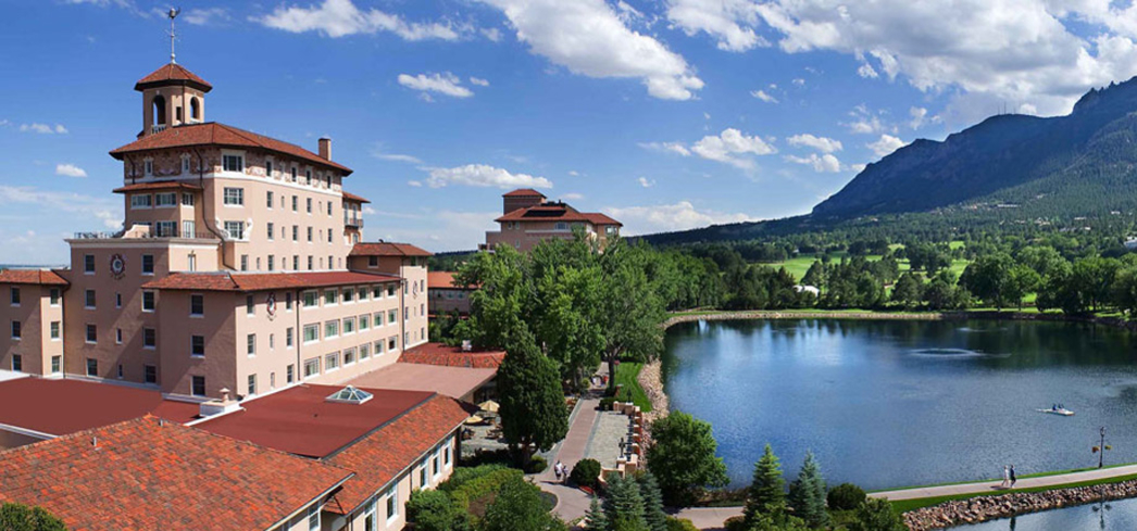 The idyllic grounds of The Broadmoor Resort