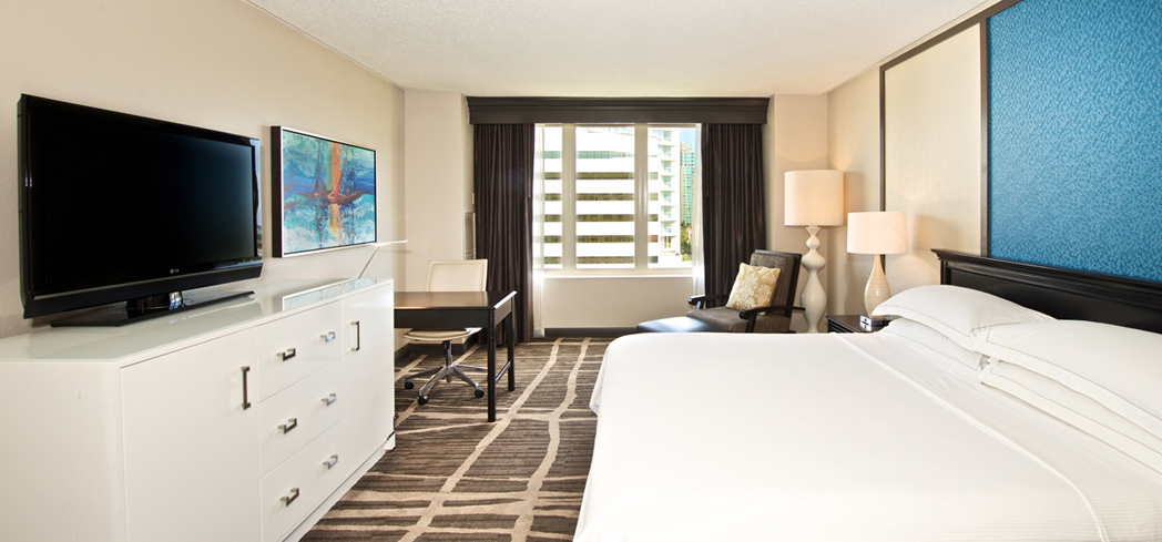The Modern King Guest Room at Hilton St. Petersburg Bayfront