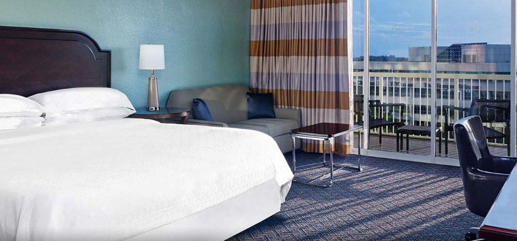 The Deluxe River View Room at Sheraton Tampa Riverwalk Hotel