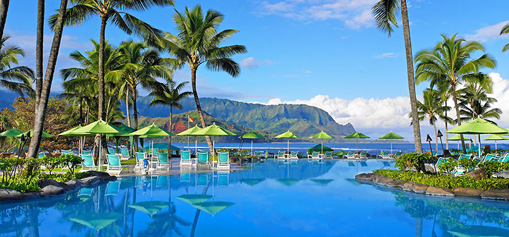 The pool at St. Regis Princeville