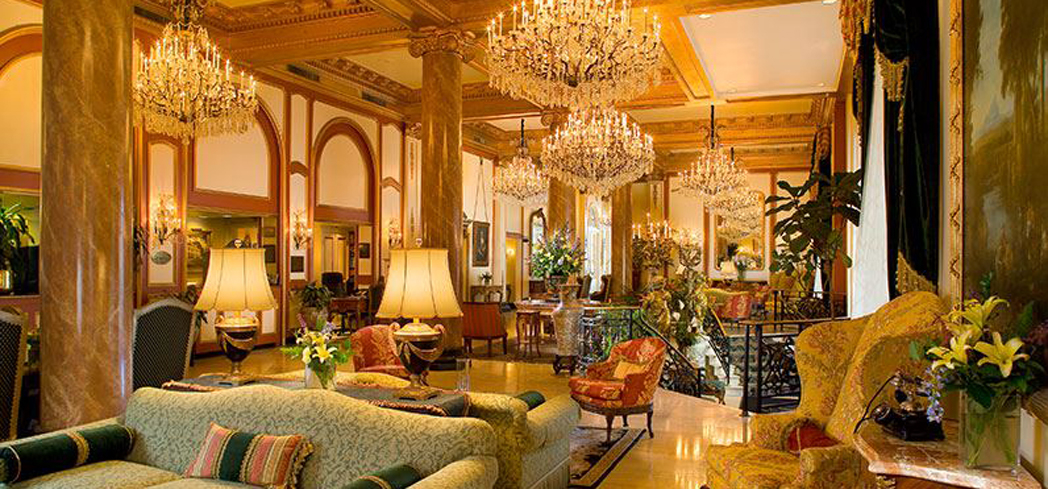This hotel stands out with its opulent formality