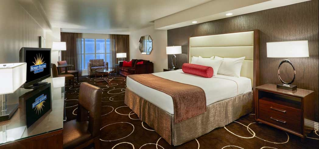 A room at the Sunset Station Hotel & Casino in Henderson, Nevada
