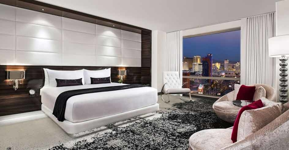 Trendy types flock to the Palms Casino and Resort located just off the Strip