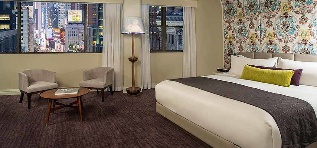A guest room at Dream New York