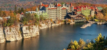 The exterior of Mohonk Mountain House in New Paltz, New York