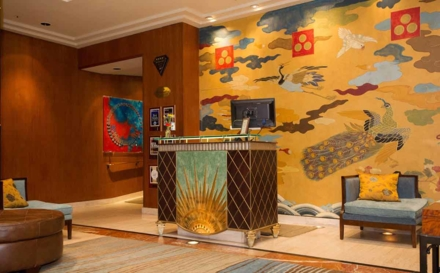 The front desk at The Heathman