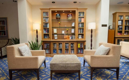 The library at The Heathman