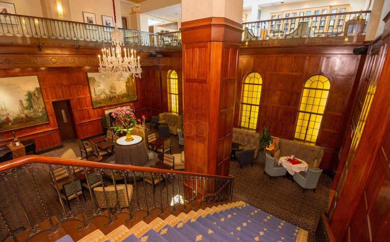 The lounge area at The Heathman