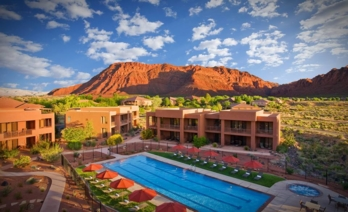 View of the Red Mountain Resort pool area