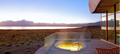 The view from Uma Spa at Tierra Patagonia Hotel & Spa in Chile