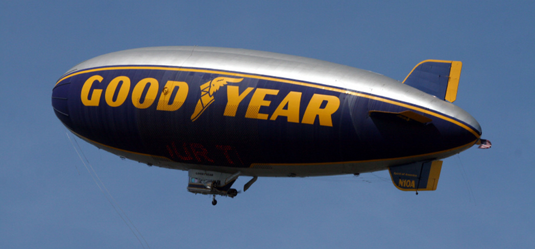 Take a flight in a Goodyear Blimp - if you're invited