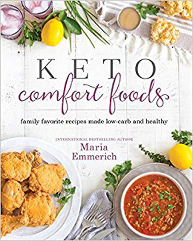 Keto diet expert Maria Emmerich takes the low-carb, high fat ethos to develop comfort food recipes